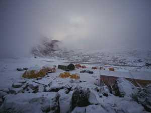Зимняя экспедиция на Эверест Алекса Тикона: работа в базовом лагере Ама-Даблам
