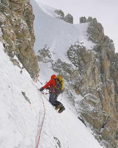 Работа на маршруте на Броуд-Пик до отметки 6800 метров. Фото Don Bowie