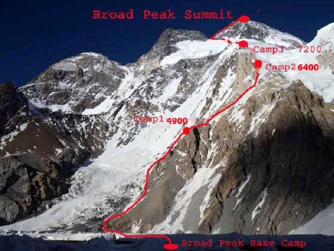 Маршрут восхождения на Броуд-Пик
