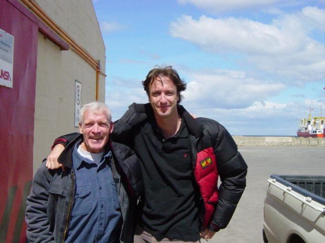 Я ( Демиен Гилдеа) и Джон Эванс (John Evans) в Пунта-Аренас в 2004 году