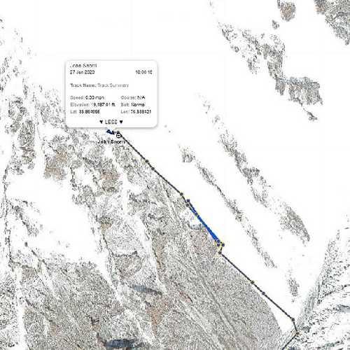Линия выхода команды в первый высотный лагерь на К2. 27 января 2020 года
