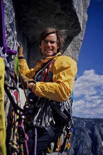 Алексе Лоу (Alex Lowe) на скале, Эль-Капитан, парк Йосемити