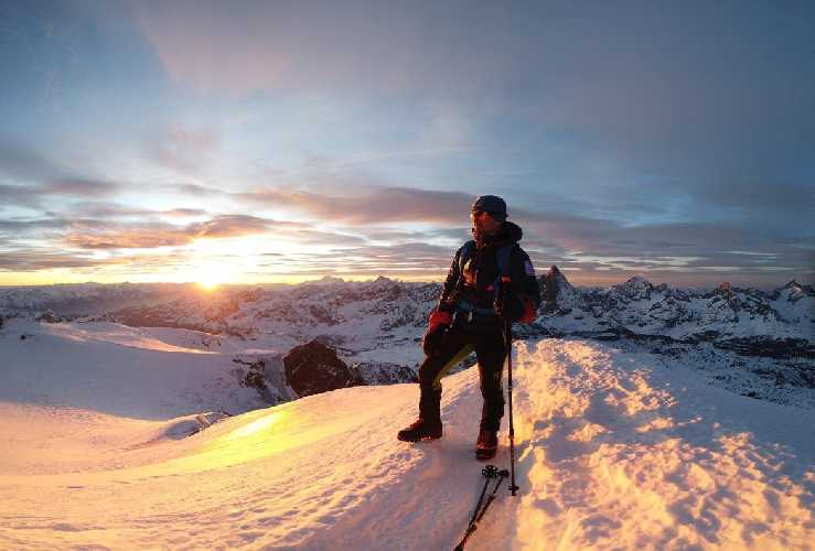 Сержи Минготе (Sergi Mingote) на вершине Брайнхорн в Альпах. январь 2020. Фото Sergi Mingote