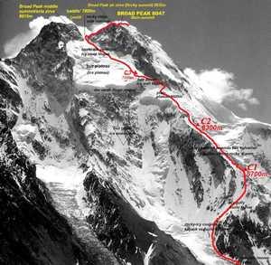 Зимняя экспедиция Дениса Урубко на Броуд-Пик: сегодня началась попытка соловосхождения
