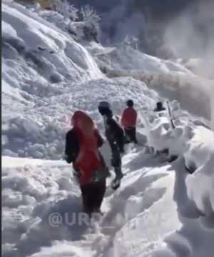 Даже небольшой снежный склон опасен сходом лавины