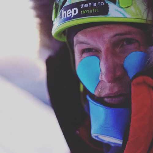 Йошт Кобуш (Jost Kobusch) в базовом лагере Эвереста. Фото Jost Kobusch