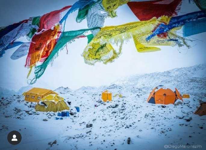 Передовой базовый лагерь на Эвересте. Фото Alex Txikon