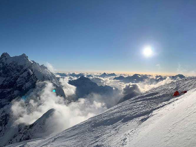 Батура Сар. Третий высотный лагерь на 6400 метров. Фото Oswald Rodrigo Pereira
