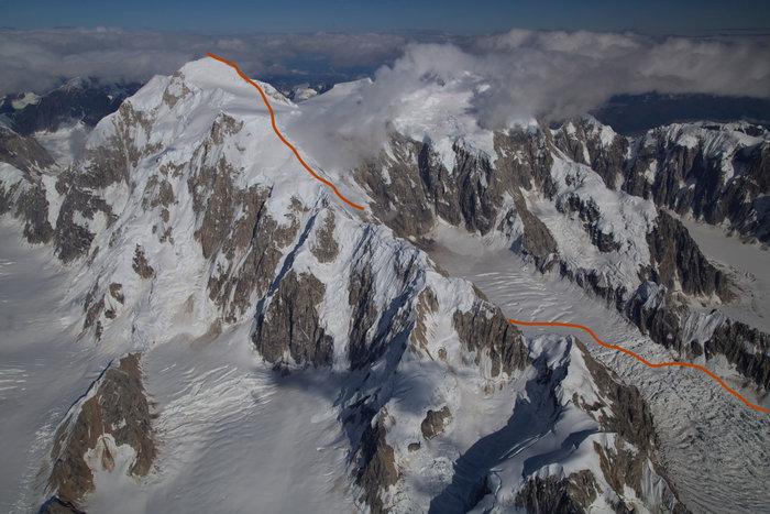 Маршрут восхождения на гору Хантер