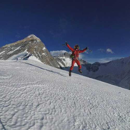 Йошт Кобуш (Jost Kobusch) на Западном гребне Эвереста