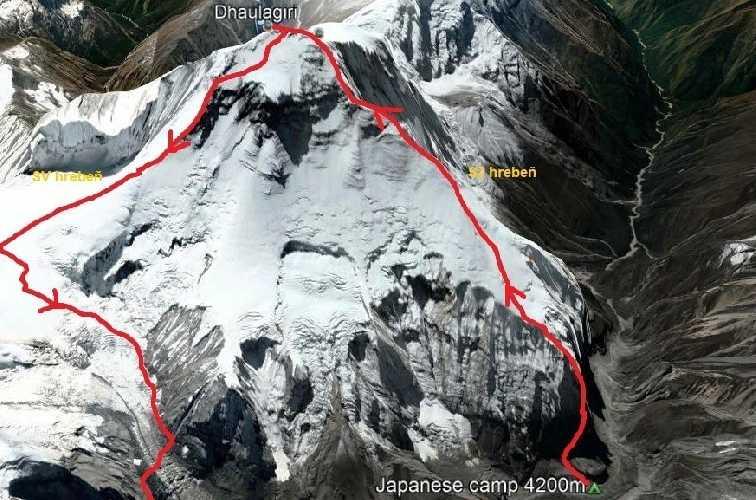 Планируемый новый маршрут  на Северо-Западном хребте и спуск по Северо-Восточному хребту восьмитысячника Дхаулагири (Dhaulagiri, 8167 м) - седьмой по высоте вершине в мире