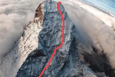 Украинские альпинисты совершили зимнее восхождение по одному из сложнейших маршрутов на Маттерхорн