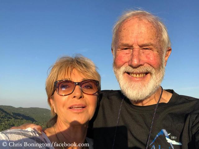 сэр Кристиан Джон Бонингтон (Sir Christian John Storey Bonington) с женой Лорето
