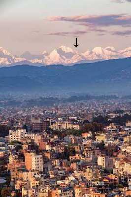 Фото дня: Эверест из долины Катманду