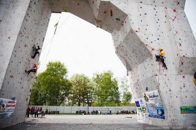 Соревнования по технике альпинизма в Харькове