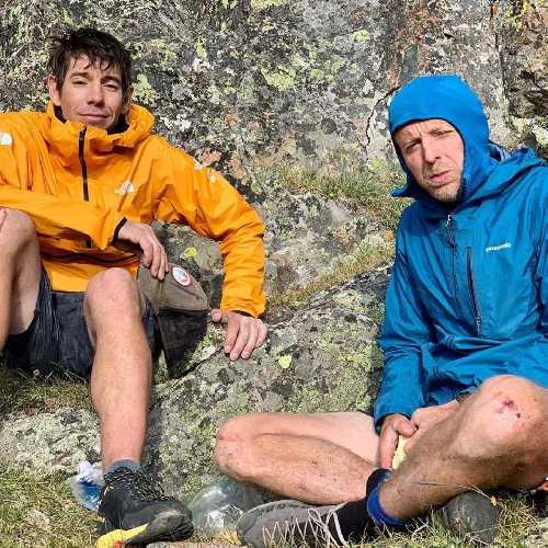 "Алекс Хоннольд (Alex Honnold) и Томми Колдвелл (Tommy Caldwell) в забеге ""CDUL"". Фото Adam Stack"