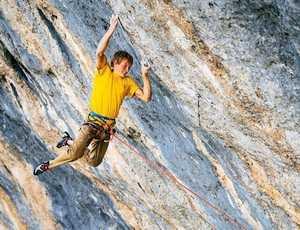 Александр Мегос открывает второй в мире сложнейший скалолазный маршрут