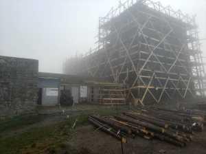На горе Поп-Иван Черногорский ведется масштабная реконструкция здания бывшей обсерватории
