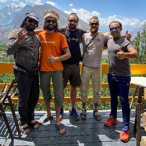 Команда Феликса Берга в Пакистане, август 2020