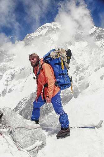 Джон Роскелли (John Roskelley) во время восхождения на Гауришанкар (Gaurishankar, 7134 м) в Гималаях в 1979 году