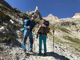 Слепой скалолаз Хавьер Агилар совершил восхождение на вершину пика Дибона по 400-метровому маршруту