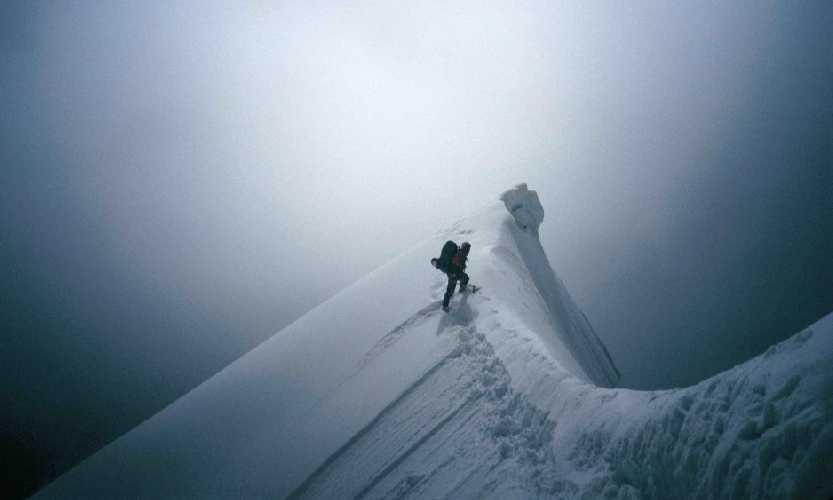 Томаш Хумар (Tomas Humar) в восхождении на вершину горы Ганеш (Ganesh, 7118 метров. Непал), 1994 год. Фото Tomaz Humar