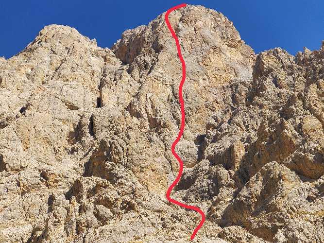 """маршрут """"Top Secret """" категории 5Б-6А на 700 метровой западной стене горы Goban Kizi"""