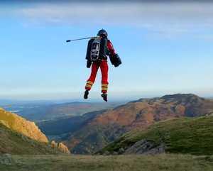 Британские спасатели тестируют реактивный костюм для помощи пострадавшим туристам