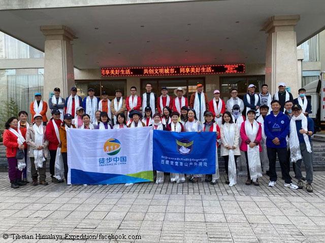 В составе китайской команды: 14 альпинистов и 20 тибетских гидов.