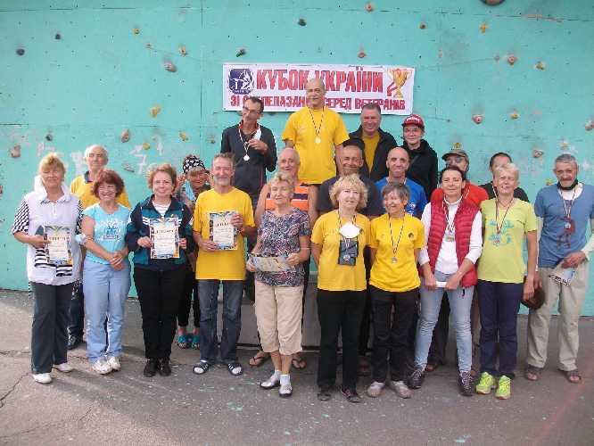 Кубок Федерации альпинизма и скалолазания Украины 2020 года по скалолазанию среди ветеранов.