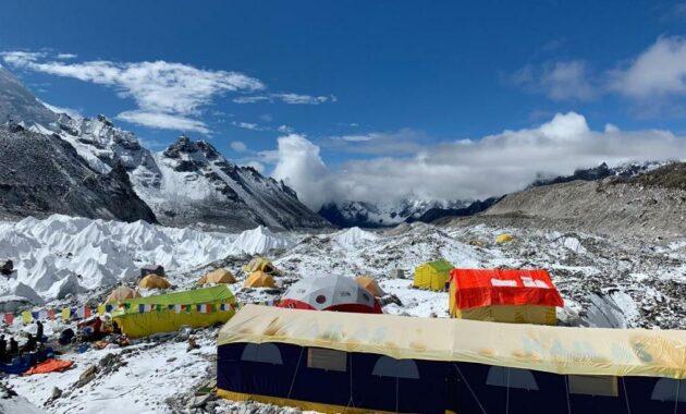 Базовый лагерь на Эвересте, октябрь 2019 г. Фото Madison Mountaineering