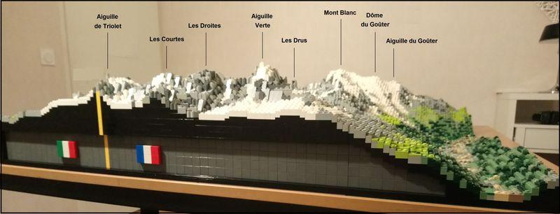 Себастьян Кумо (Sébastien Cuomo) реализовал свой удивительный проект: сооружение точной модели массива Монблана из кубиков Lego