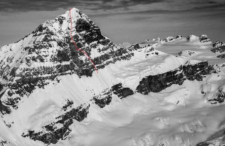 первое восхождение на огромную Восточную стену горы Форбс (Mt. Forbes, 3612 м) в Канадских Скалистых горах
