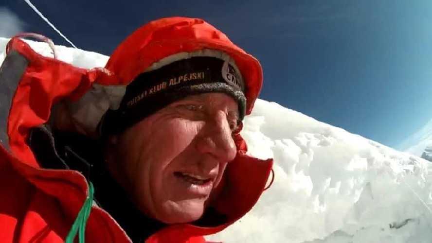 автопортрет Дениса Урубко, сделанном прошлой зимой во время сольной зимней попытки подняться на вершину восьмитысячника Броуд-Пик.