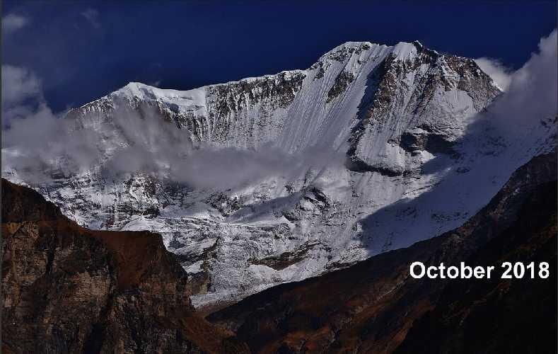 южная стена горы Сайпал в 2018 году