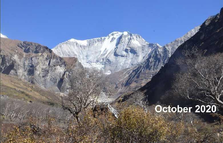 южная стена горы Сайпал в 2020 году