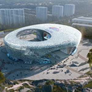 Фото дня: Скалолазный центр в Китае. Проект на 2022 год