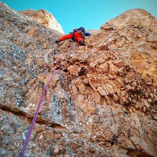маршрут Никиты Балабанова - Вячеслава Полежайко на вершину СЗ гребня горы Калде. Фото Никита Балабанов