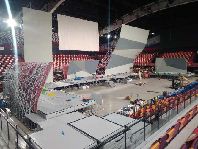 Арена Чемпионата Европы по скалолазанию в Москве