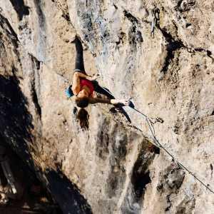 Лаура Рогора совершает первое повторение маршрута