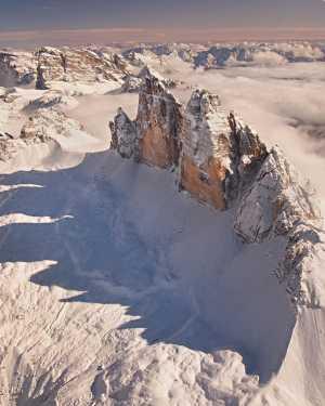 Фото дня: Снежная корона Доломитовых Альп