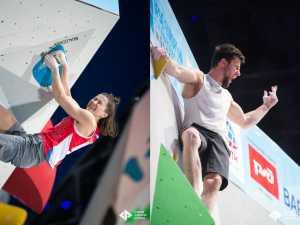 Джерней Крудер и Виктория Мешкова – чемпионы Европы по скалолазанию в дисциплине боулдеринг