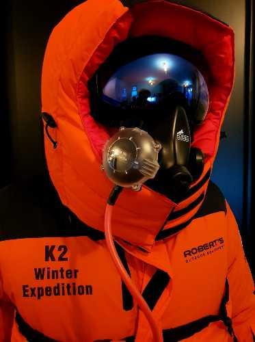 Костюм Джона Снорри, который будет использоваться в зимней экспедиции на К2 в сезоне 2020/2021