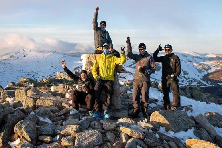 Сем Тейт (Sam Tait) на найвищій точці Австралії - горі Косцюшко (Mount Kosciuszko, 2228 м)