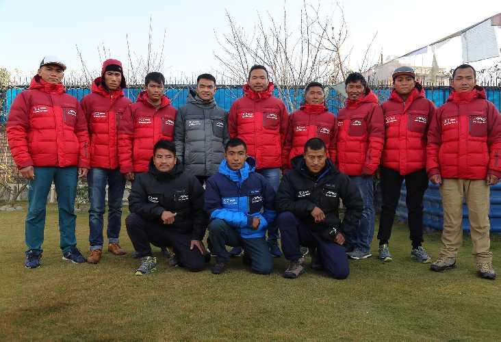 Шерпы команды  Seven Summit Treks перед отъездом в Пакистан