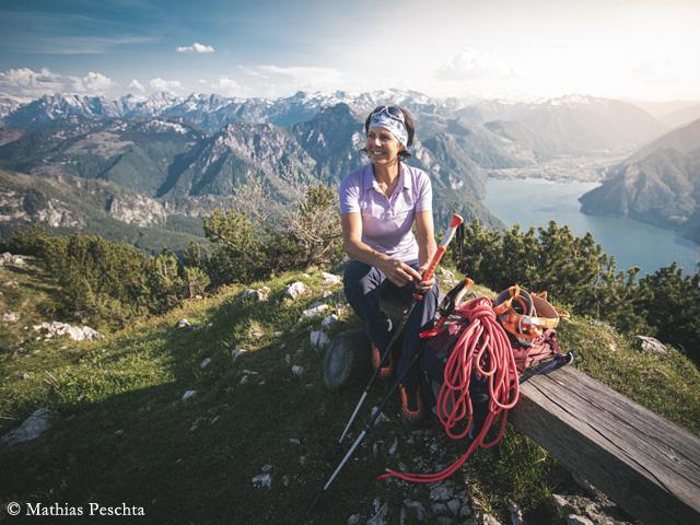 Герлинде Кальтенбруннер (Gerlinde Kaltenbrunner) в горах Верхней Австрии