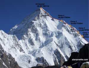 Зимние экспедиции на восьмитысячник К2: команды Мингмы Шерпы и Нирмала Пурджи провесили веревки до отметки 7000 метров!