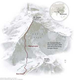 Кори Ричардс возвращается на Эверест, чтобы создать новый маршрут на северо-восточной стене