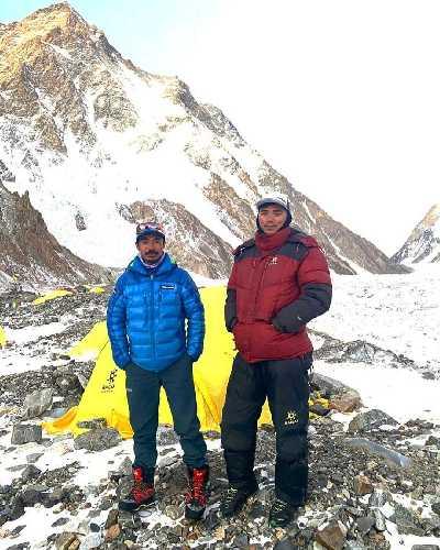 Гханг Дава Шерпа (Ghhang Dawa Sherpa) в базовом лагере восьмитысячника К2