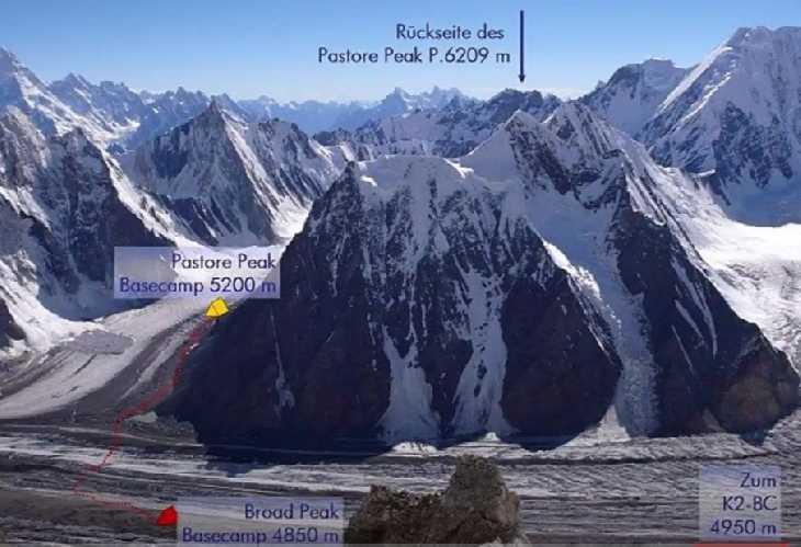 Пастор Пик (Pastore Peak) высотой 6209 метров